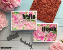 Blooming Peony Garden Cling Background