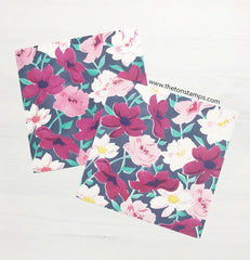 Blossoms Full Print Layering Stencils SVG Cut File