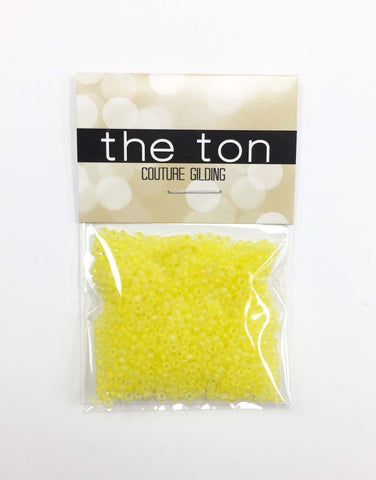 Bright Lemon Matte Seed Beads