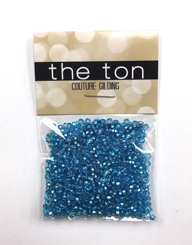 Bright Metallic Blue Seed Beads