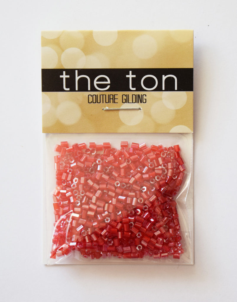 Cherry Apple Bugle Beads