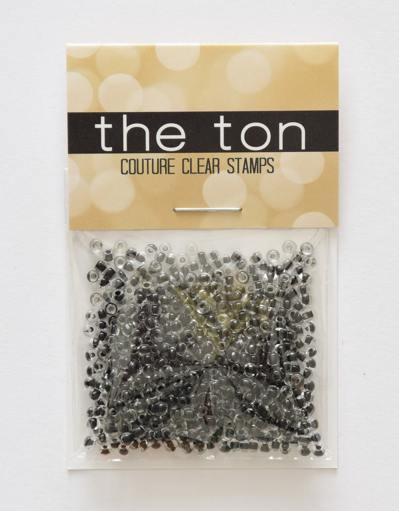 Clear Black Seed Beads