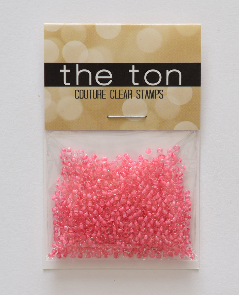 Clear Pink Coral Seed Beads