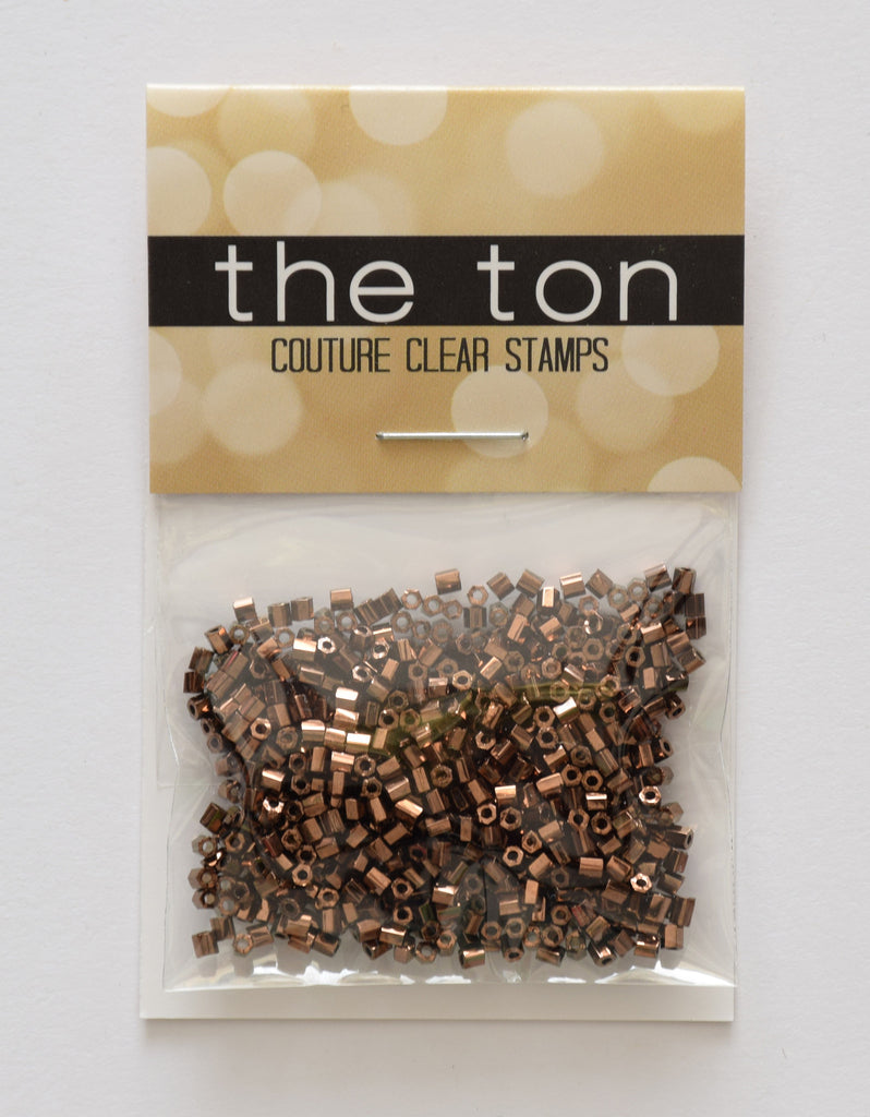 Coffee Gold Bugle Beads