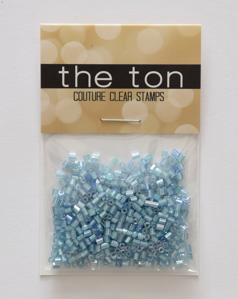 Cool Blue Bugle Beads