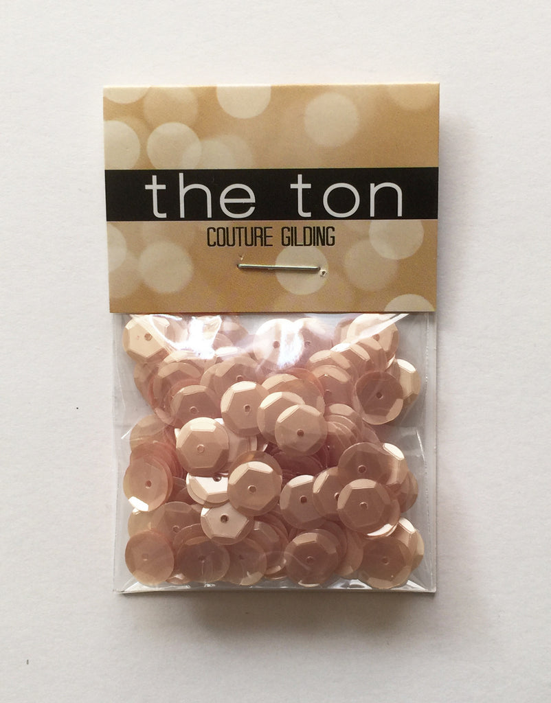 Creamy Toffee Sequins - 10, 8, 6, 5, 4mm, Mixed