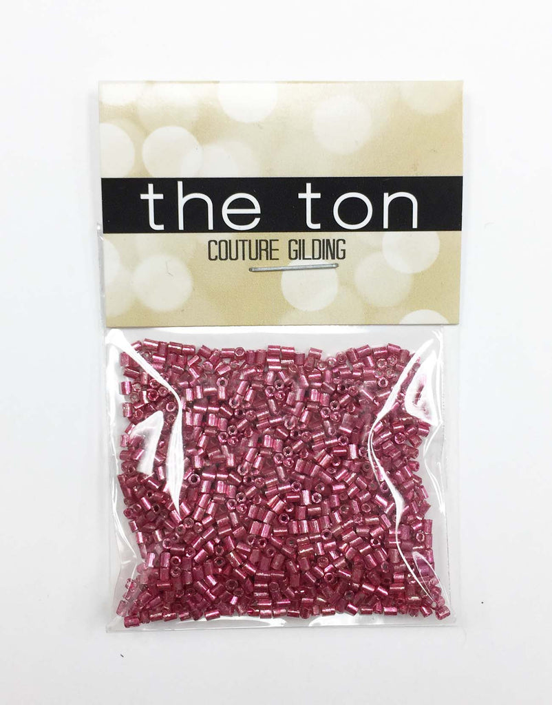 Crimson Steel Bugle Beads