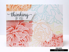 Peony Garden Cling Background