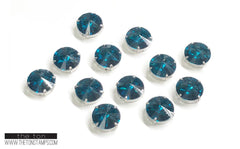 Glass Gems - Dark Blue Round 5/8in