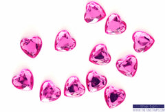 Dark Pink Heart Gems
