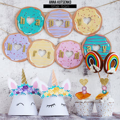 Lavish Donuts and Unicorns Bundle (Three 6x8 sets)
