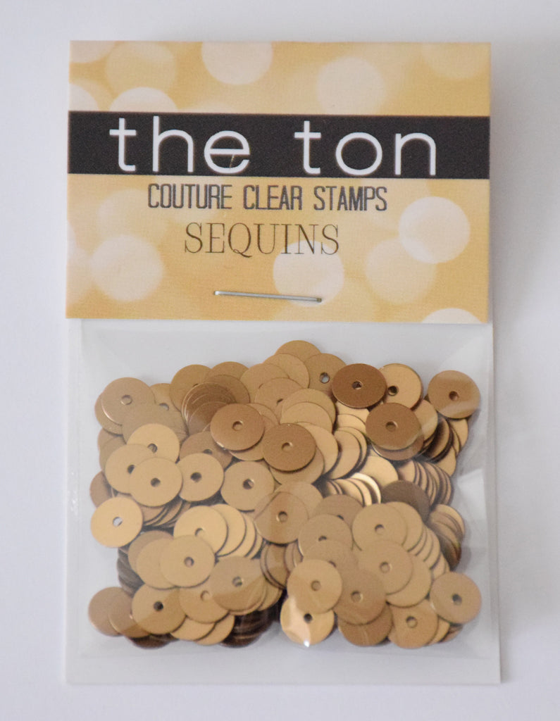 Matte Gold Flat Sequins - 6mm