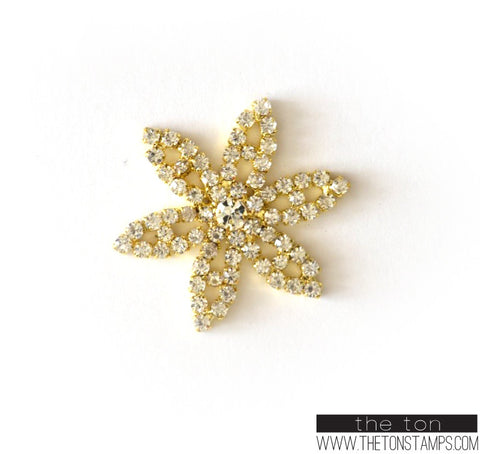 Floral Embellishment 2 Gold