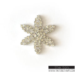 Floral Embellishment 2 Silver
