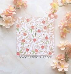 Folk Art Florals Cling Background