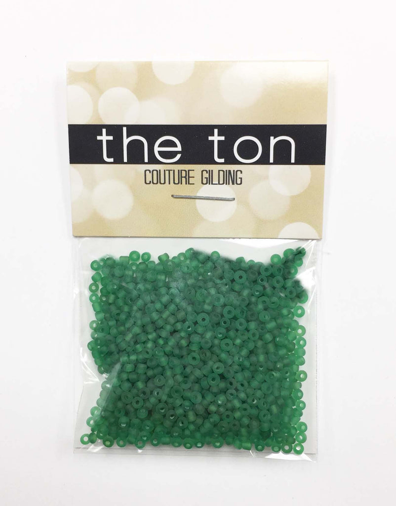 Forest Green Matte Seed Beads