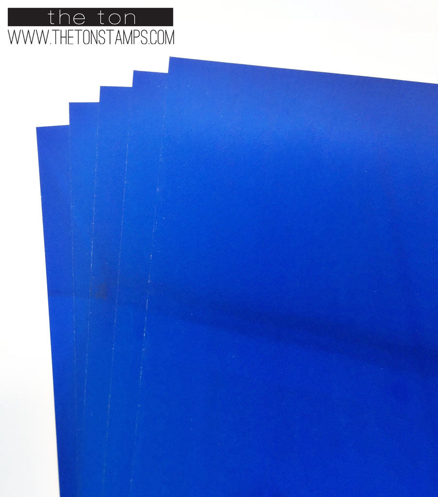 Adhesive Foil Paper - Royal Blue (7.9in x 9in)