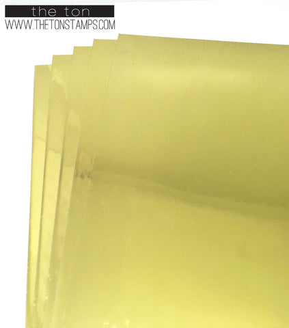 Adhesive Foil Paper - Gold (7.9in x 9in)