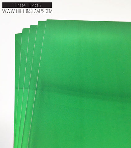 Adhesive Foil Paper - Green (7.9in x 9in)