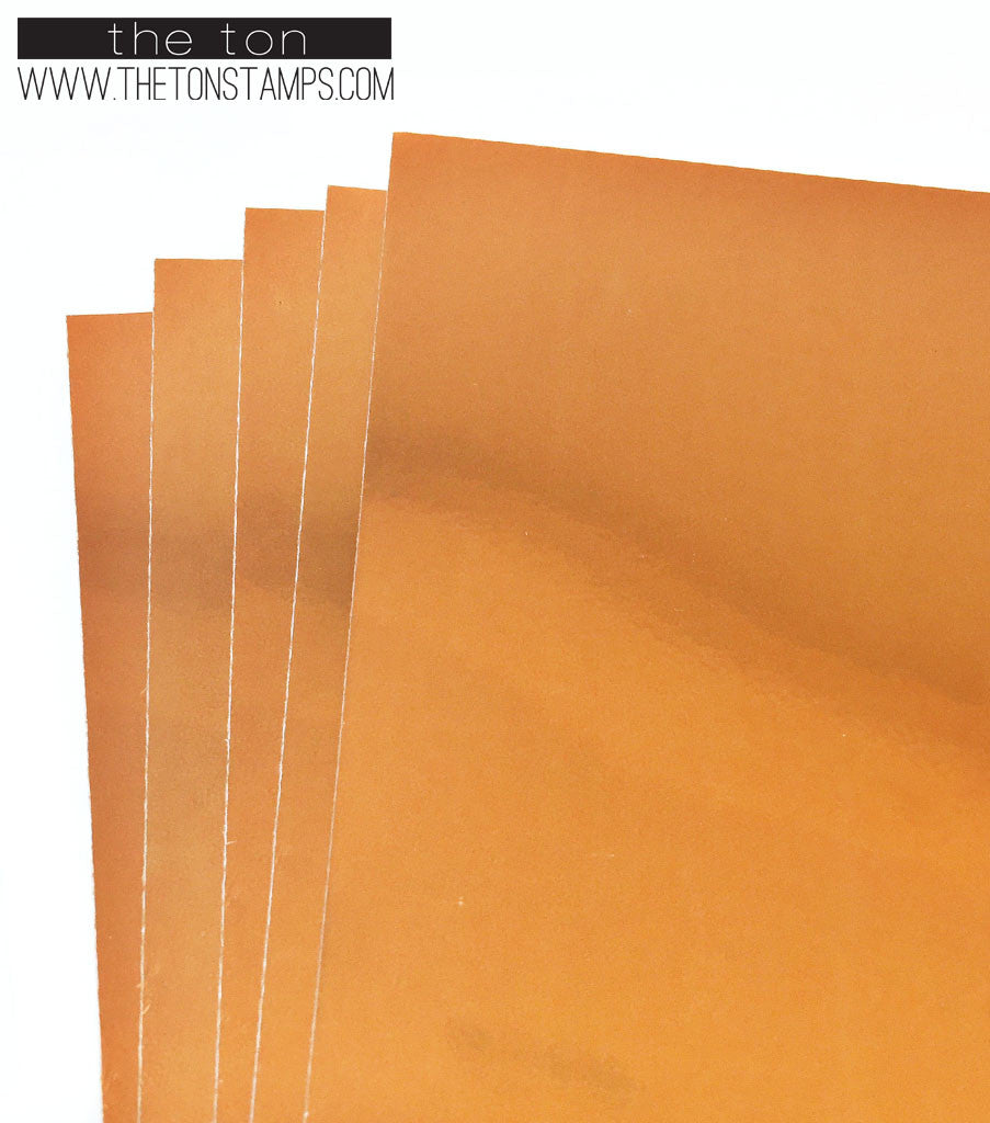 Adhesive Foil Paper - Orange (7.9in x 9in)