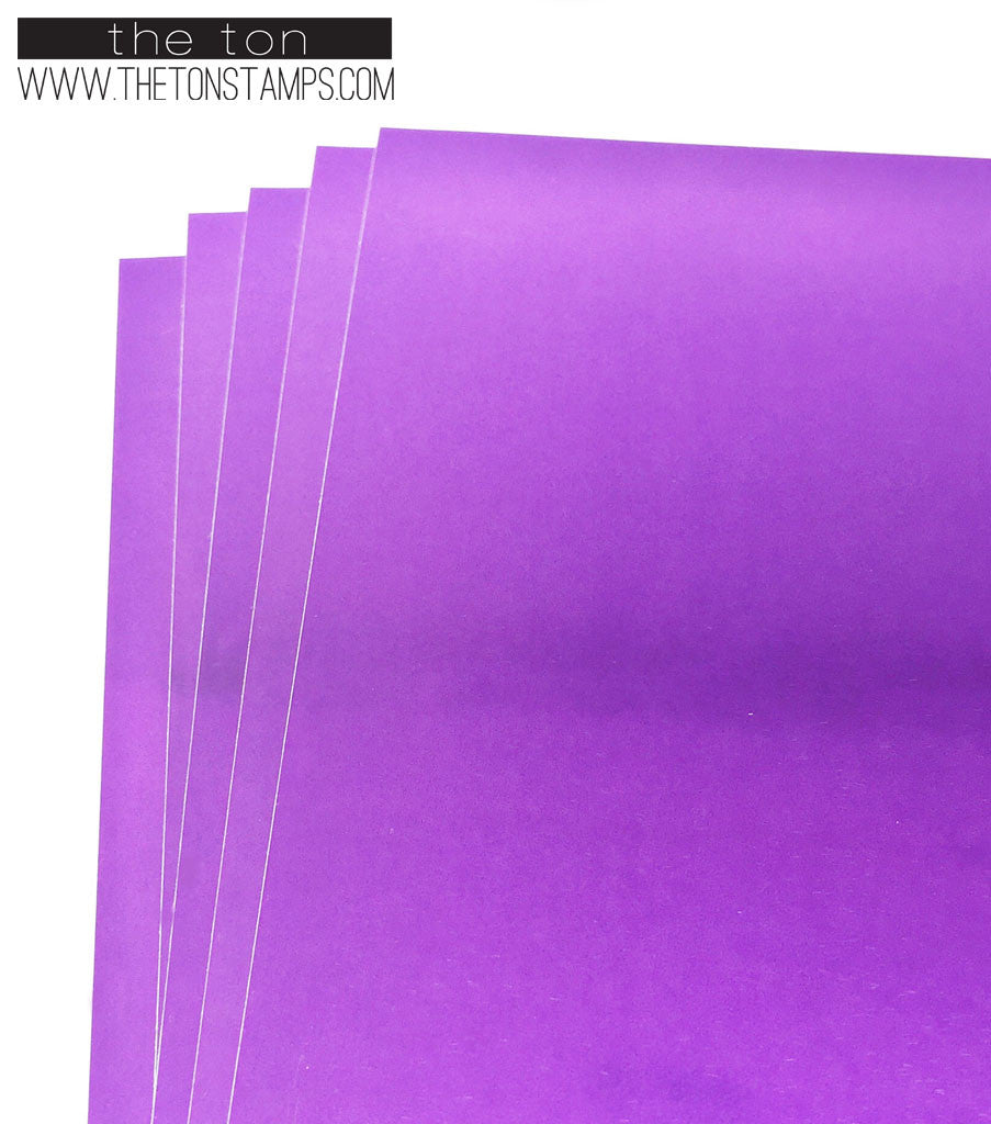 Adhesive Foil Paper - Purple (7.9in x 9in)