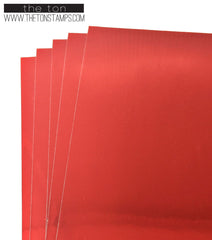 Adhesive Foil Paper - Red (7.9in x 9in)