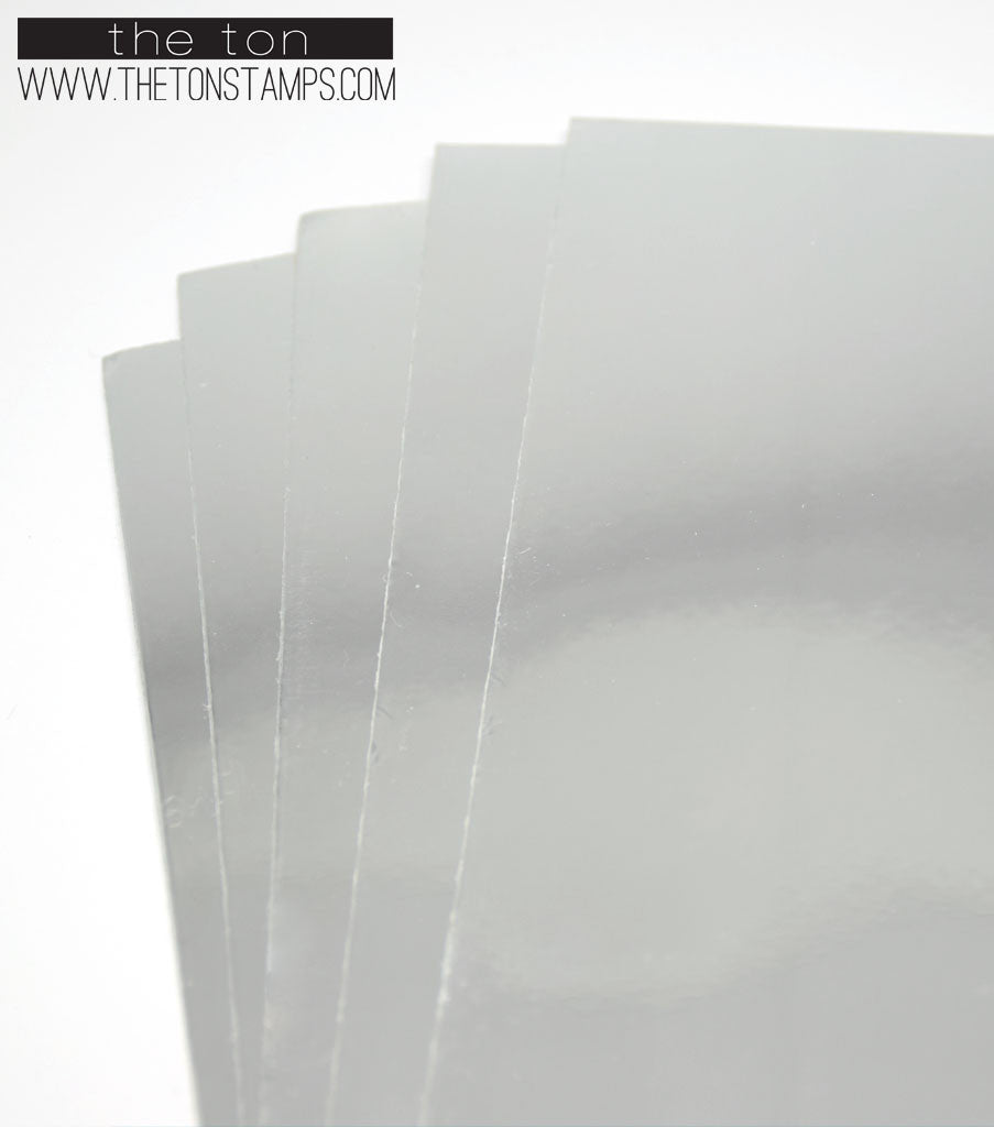 Adhesive Foil Paper - Silver (7.9in x 9in)