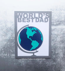Best Dad Globe Coverplate SVG Cut File