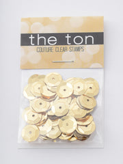 Medallion Gold Sequins - 10mm, 8mm, 6mm, 5mm, 4mm, MIXED