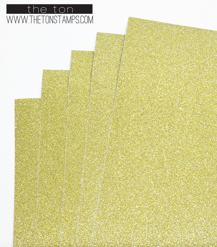Adhesive Glitter Paper - Gold