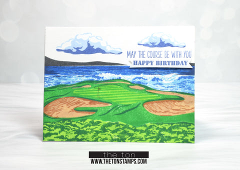 Golf Course Layering Stamps (Two 6x8 sets)