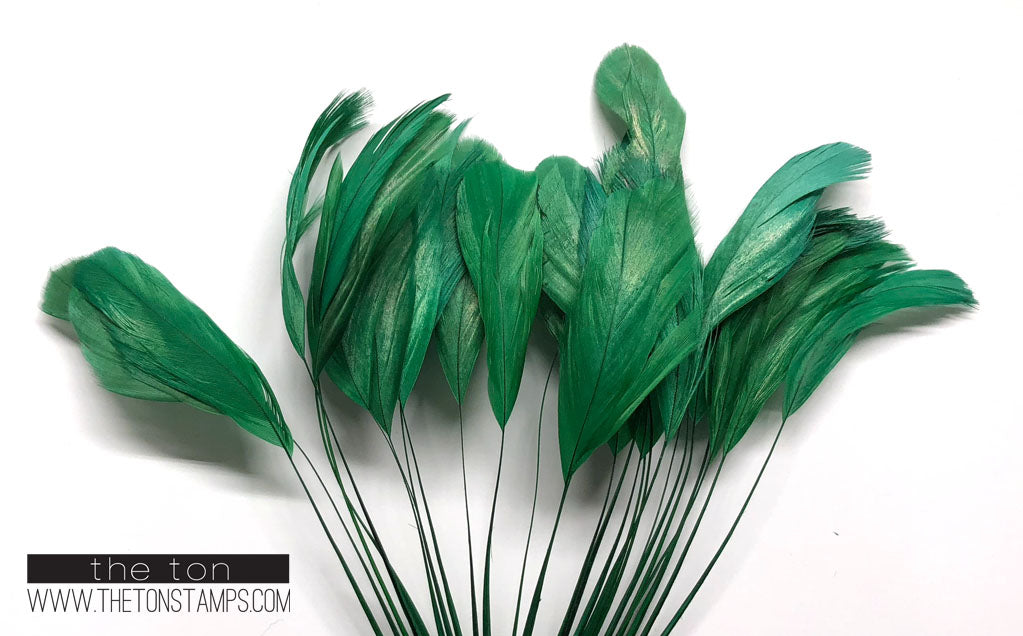 Feathers - Green Fine