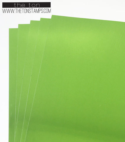 Adhesive Foil Paper - Apple Green (3.9in x 9in)