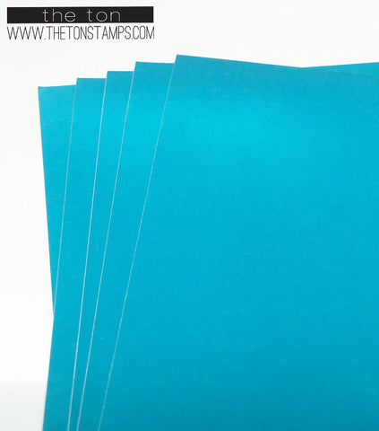 Adhesive Foil Paper - Bright Blue (3.9in x 9in)