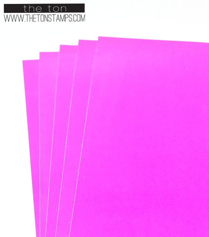 Adhesive Foil Paper - Bright Pink (3.9in x 9in)