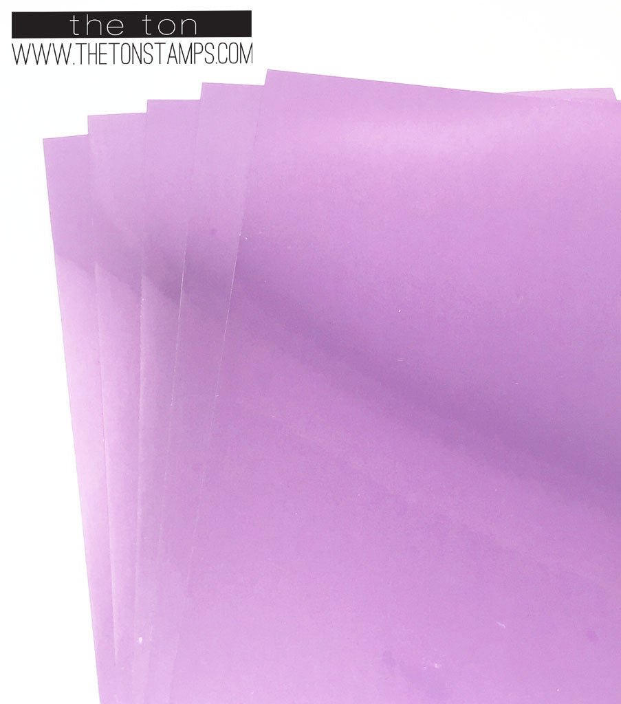Adhesive Foil Paper - Light Pink (3.9in x 9in)