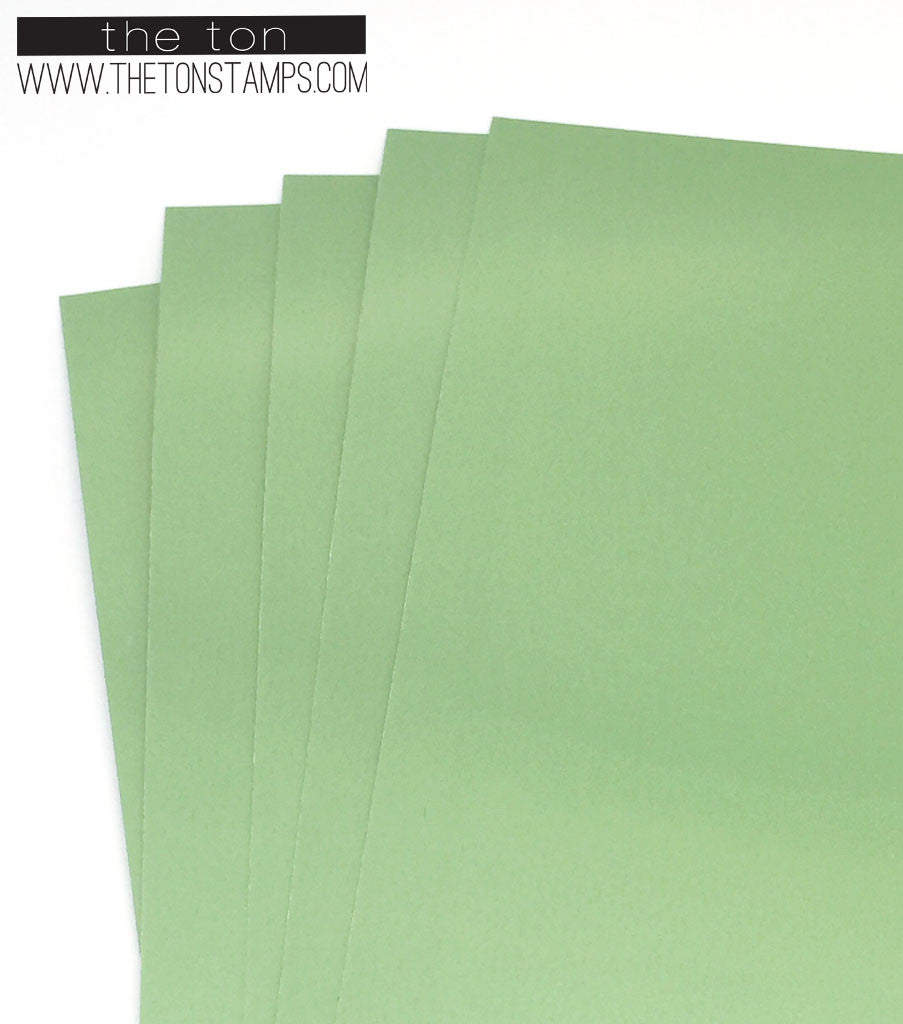 Adhesive Foil Paper - Mint (3.9in x 9in)