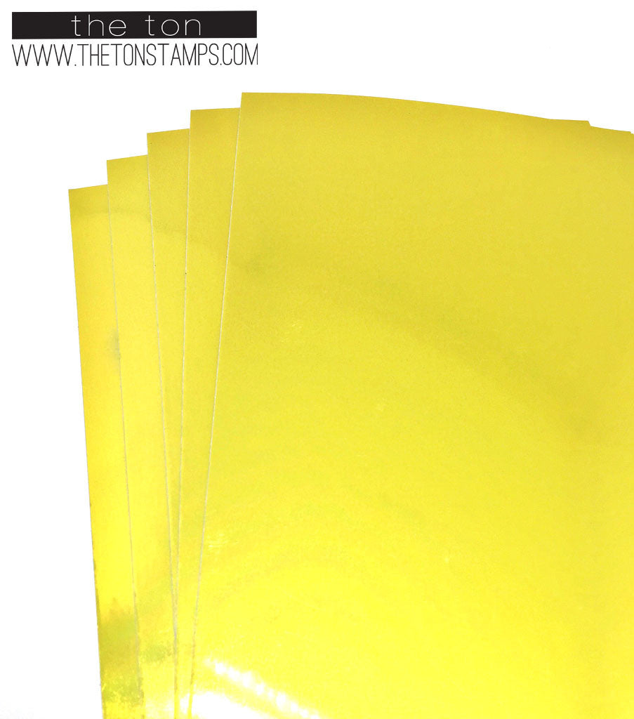 Adhesive Foil Paper - Yellow (3.9in x 9in)