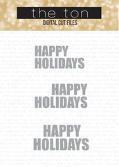 Happy Holidays Large SVG Cut Files Set