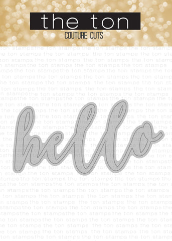 Brushed Hello Coordinating Die