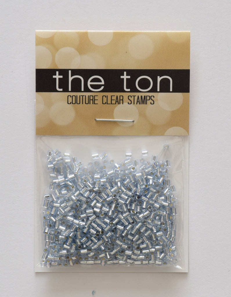 Ice Blue Bugle Beads