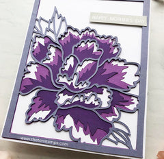 Peony Layering Coverplates SVG Cut File