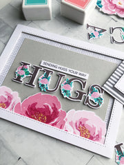 Layered Floral Alpha Stamp Bundle - Preorder // PLEASE READ
