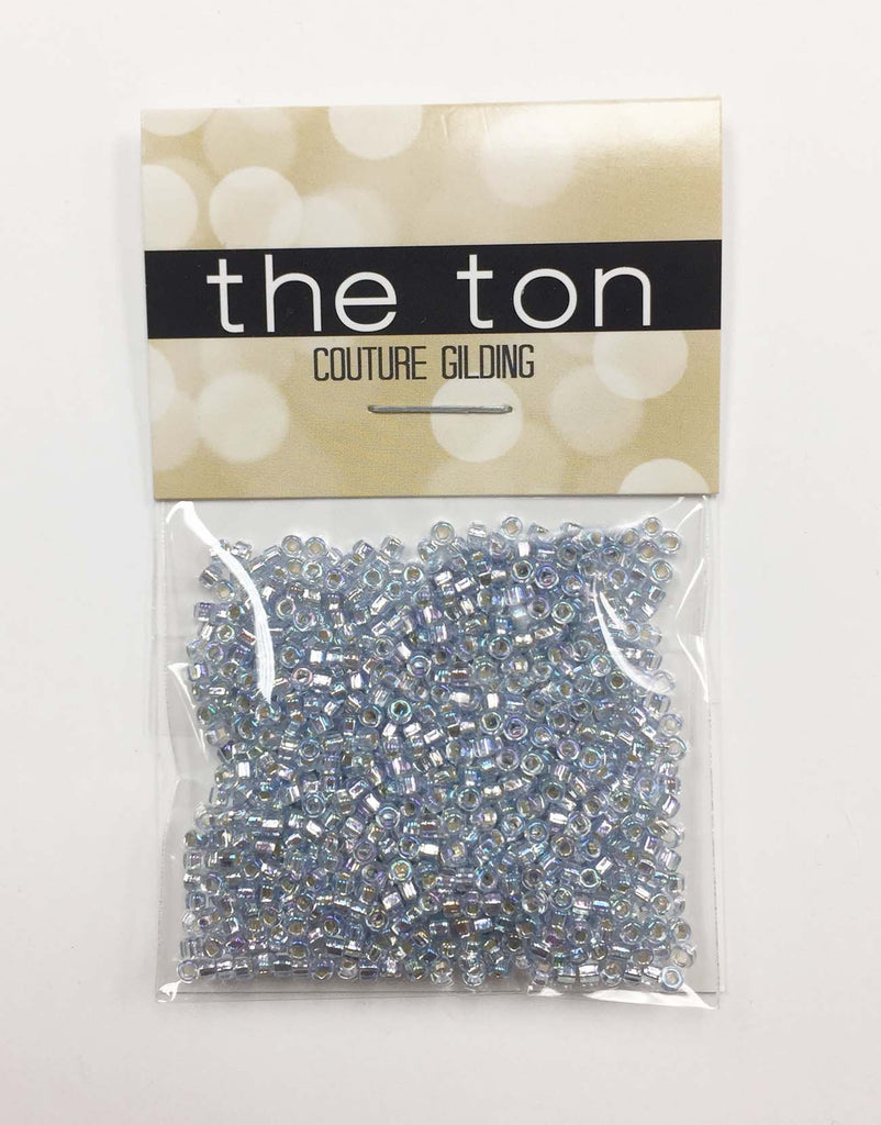 Iridescent Blue Diamond Seed Beads