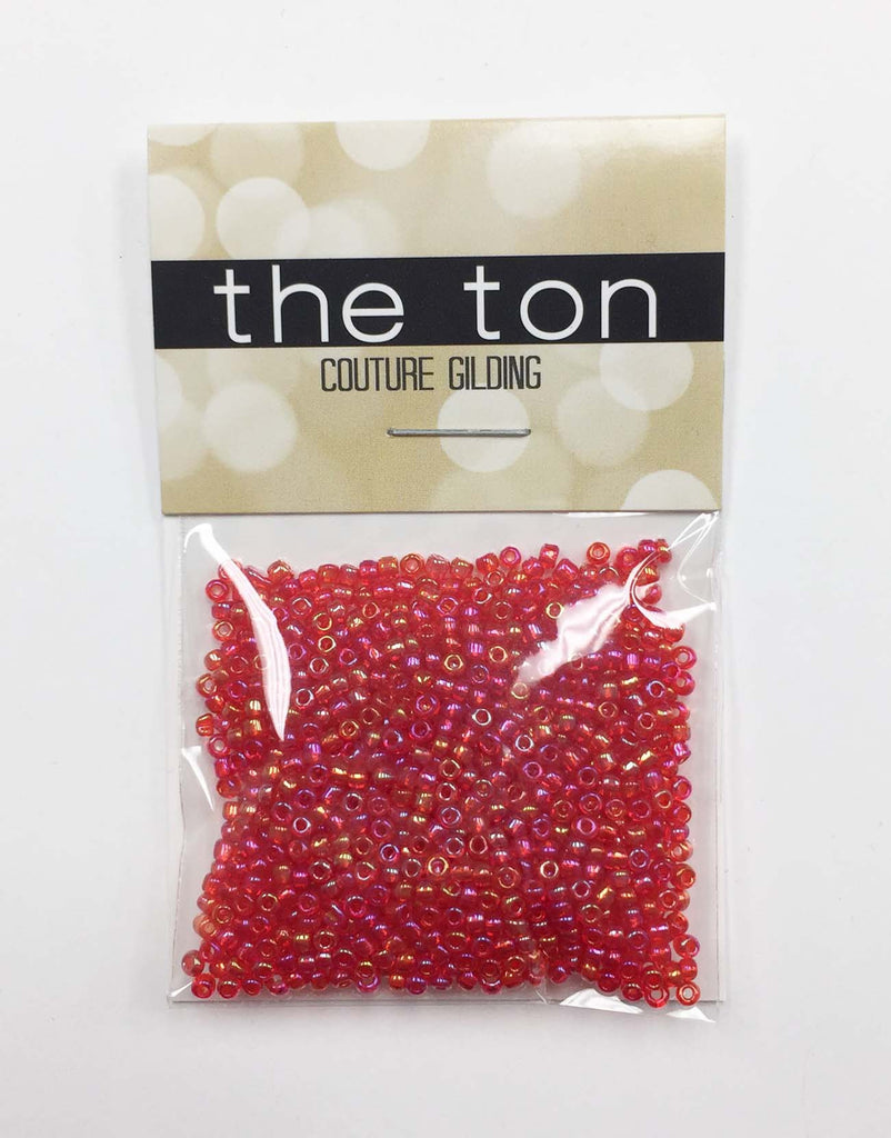 Iridescent Cherry Seed Beads