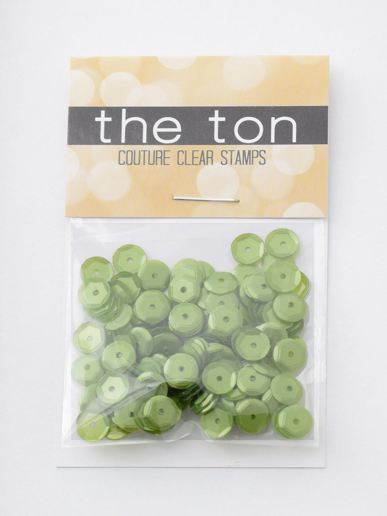 Key Lime Sequins - 10, 8, 6, 5, 4mm, Mixed