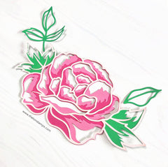 Single Layered Peony SVG Cut File
