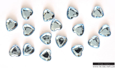Light Blue Heart Gems