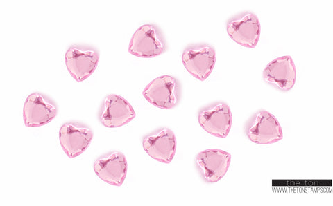 Light Pink Heart Gems