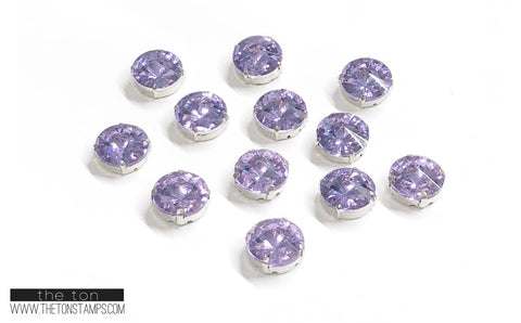 Glass Gems - Purple Round 5/8in